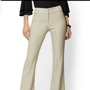 Navy Stripped Dress Pants